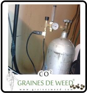 Bouteille de CO2. Le CO2 est un matériau brut essentiel pour la photosynthèse